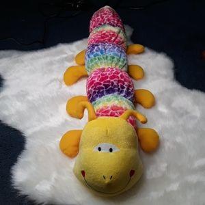 31 inch long rainbow stuffed caterpillar